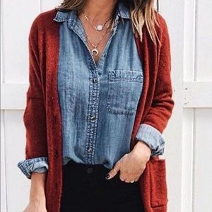 Old Navy Burgundy Cardigan